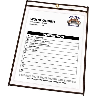C-Line® Stitched Shop/Job Ticket Holders, 9in. x 12in.