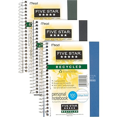 Mead® Five Star® Personal Memo Book, 7in. x 5in.