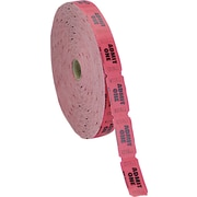 Coin-Tainer® Single Ticket Roll, Red, 2000/Roll