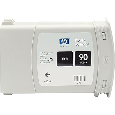 HP 90 Black Ink Cartridge (C5058A), 400ml