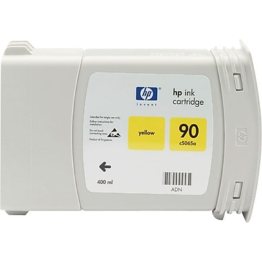 HP 90 Yellow Ink Cartridge (C5065A), 400ml
