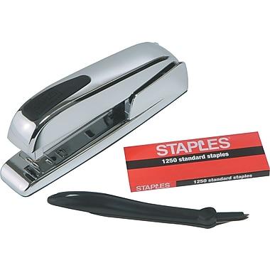 Staples® Desktop Stapler Combo Pack, Chrome, 20-Sheet Capacity