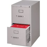 HON S380 Series 26 1/2 D Vertical File Cabinet, Letter Size, Light Gray