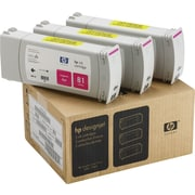 HP 81 Magenta Ink Cartridges (C5068A), 3/Pack
