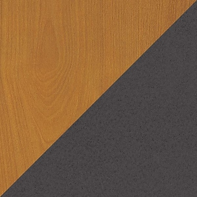 Bush Westfield Reception L-Hutch, Natural Cherry/Graphite Gray