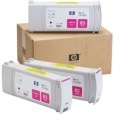 HP 83 Magenta UV Ink Cartridges (C5074A), 3/Pack