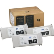 HP 81 Black Ink Cartridges (C5066A), 3/Pack