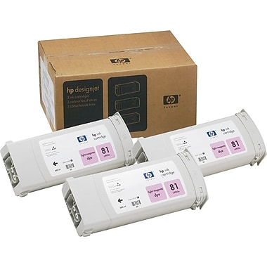 HP 81 Light Magenta Ink Cartridges (C5071A), 3/Pack