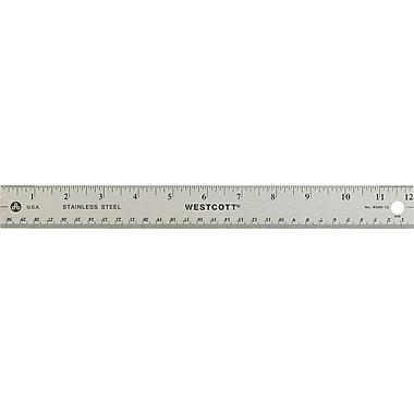 Westcott® Stainless-Steel Rulers with Non Slip Cork Base