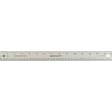 Westcott® 15in. Stainless Steel Office Ruler with Non Slip Cork Base
