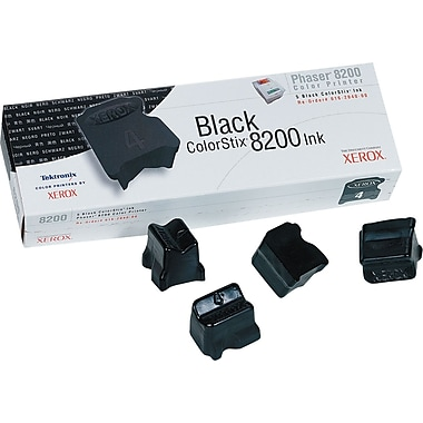 Xerox Phaser 8200 Black Solid Ink (016-2044-00), 10/Pack