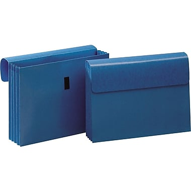 Staples Laminated Expanding Wallets, Letter, 3 1/2in. Expansion, Blue, 3/Pack
