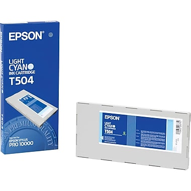 Epson T504 Light Cyan Photo Ink Cartridge (T504201)