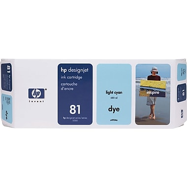 HP 81 Light Cyan Ink Cartridge (C4934A)