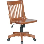 Office Star™ Armless Wood Banker's Chair, Medium Fruitwood