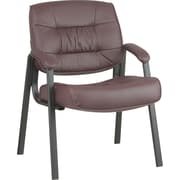 Office Star™ Deluxe Leather Guest Chair, Burgundy