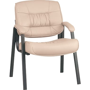 Office Star Deluxe Leather Guest Chair, Tan