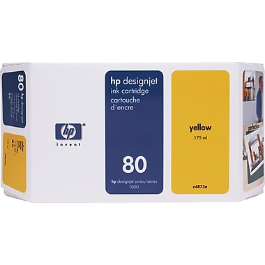 HP 80 Yellow Ink Cartridge (C4848A), High Yield