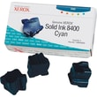 Xerox Phaser 8400 Cyan Solid Ink (108R00605), 3/Pack