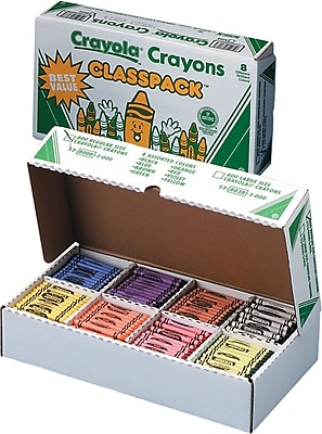 Classpack Regular Crayons (50 Each of 8 Color, 400/Box) CYO528038