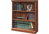 Sauder Premier 3-Shelf Composite Wood Bookcase, Planked Cherry Finish