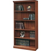 Sauder Premier 5-Shelf Composite Wood Bookcase, Planked Cherry Finish