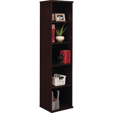 Bush Westfield 5-Shelf Space-Saver Bookcase, Mocha Cherry