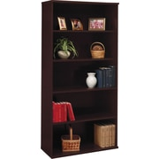 Bush Business Westfield 36W 5 Shelf Bookcase, Mocha Cherry