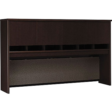 Bush Westfield 72in. 4-Door Hutch, Mocha Cherry
