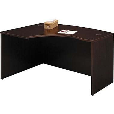 Bush Westfield Left L-Bow Front Desk, Mocha Cherry