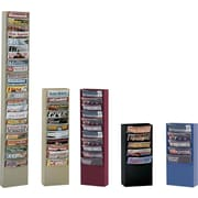 Durham Con-Tur® Vertical Literature Racks, 5 Pockets, Gray