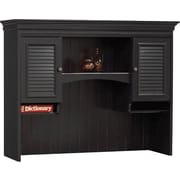 Bush Stanford Hutch for Computer Desk, Antique Black/Hansen Cherry