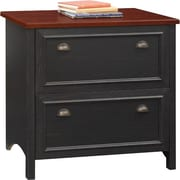 Bush Furniture Stanford Lateral File Cabinet, Antique Black/Hansen Cherry (WC53984-03)