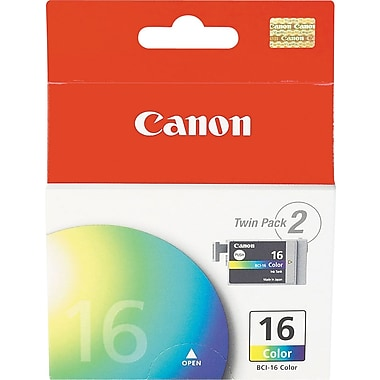 Canon BCI-16 Color Ink Cartridges (9818A003), 2/Pack
