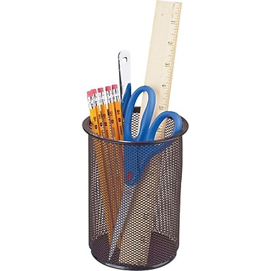 Staples® Black Wire Mesh Jumbo Pencil Holder