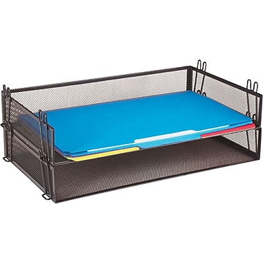 Staples® Black Wire Mesh Stackable Legal Tray