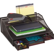 Staples® Black Wire Mesh Desk Bureau