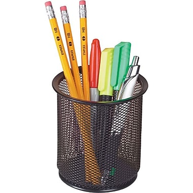 Staples® Metal Mesh Pencil Cup