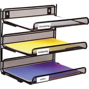 Staples® Metal Mesh 3-Tier Desk Shelf