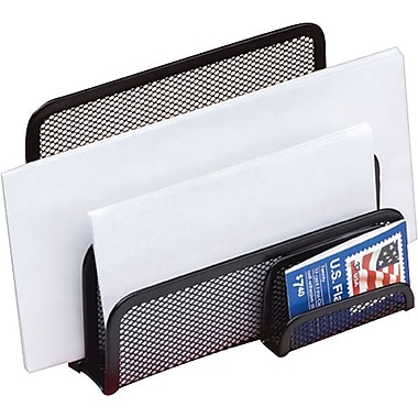 Staples® Black Wire Mesh Letter Holder/Sorter