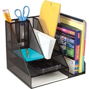 Staples Wire Mesh Giant Desk Organizer, Black