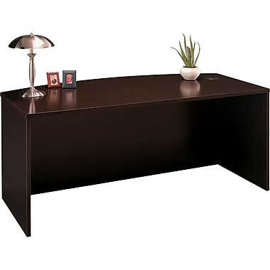 Bush Westfield Bow Front Desk, Mocha Cherry, Fully assembled