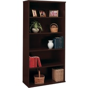 Bush Westfield 5-Shelf Bookcase, Mocha Cherry, Fully assembled