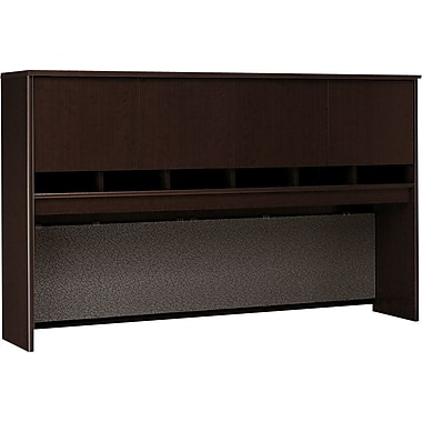 Bush Westfield 72in. 4-Door Hutch, Mocha Cherry, Fully assembled