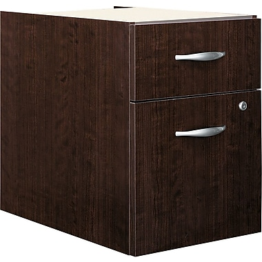 Bush® Business Westfield Elite 2-Drawer 3/4 Pedestal, Mocha Cherry
