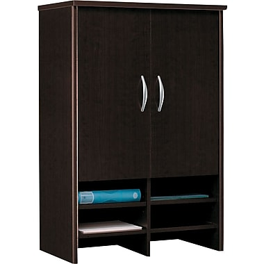 Bush Westfield 30in. Storage Hutch, Mocha Cherry, Fully assembled