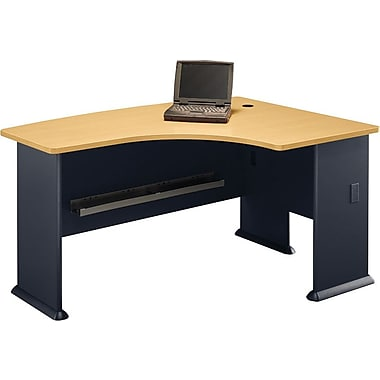 Bush Cubix Right L-Bow Desk, Beech/Slate Gray