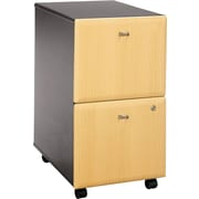 Bush Cubix 2-Drawer File Cabinet, Euro Beech/Slate Gray, Fully assembled