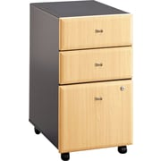 Bush Cubix 3-Drawer File Cabinet, Euro Beech/Slate Gray