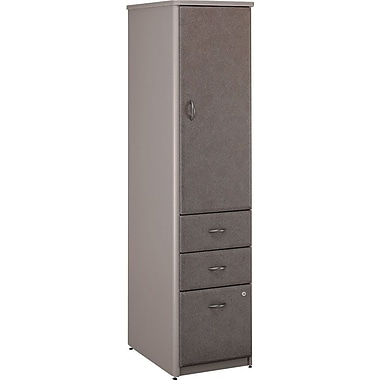 Bush Cubix Vertical Locker, Pewter/White Spectrum